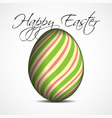 greeting card with text colored Easter egg vector image