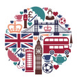 icons on a theme of england vector image