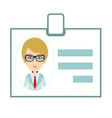 Identification card for woman vector image