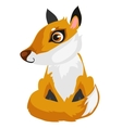 Toy cartoon fox isolated animal vector image