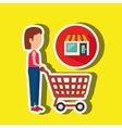 woman shopping design vector image