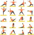 yoga poses asanas set vector image