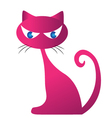 Pinky cat silhouette for your design vector image