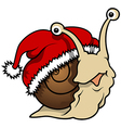 Happy Christmas Snail vector image vector image