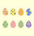 easter eggs flat style vector image