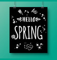poster with a handwritten phrase-hello spring 7 vector image