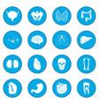 internal organs icon blue vector image