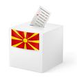 Ballot box with voicing paper Macedonia vector image