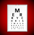 Christmas eye test chart as xmas card vector image vector image