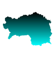 Map of Styria vector image vector image