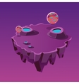 Cartoon Stone Isometric Island with Craters for vector image
