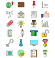 Set of color business icons vector image
