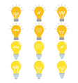 Set of light bulb icon set vector image