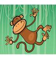 cartoon of funny monkey vector image