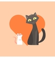 Cat And Mouse Friendship Image vector image