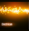 energy shock effect with many glowing particles vector image