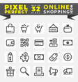 Set of Online Shopping Icons Base on 32 Pixel vector image