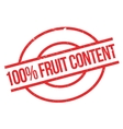 100 percent Fruit Content rubber stamp vector image