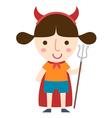 devil girl vector image