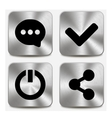 Web icons on metallic buttons set vol 6 vector image