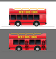 red touristic bus set vector image vector image