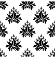 Floral seamless pattern with decorative flowers vector image