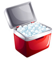 A bucket of icecubes vector image