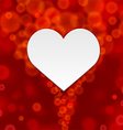 Red background of hearts vector image