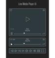 Modern line media player template vector image