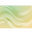 Abstract green and yellow wavy shiny vector image