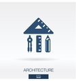 Architecture and construction concept icon vector image