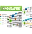 calendar infographics vector image