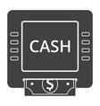 cash machine icon vector image