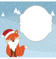 Christmas Fox Card vector image