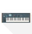 color flat style piano roll synthesizer vocoder vector image