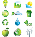 ecology set vector image