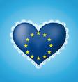 Heart shape flag of EU vector image