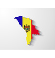 Moldova map with shadow effect vector image