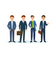 office workers in beautiful business suits vector image