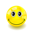 Smilie Bouncy Ball vector image
