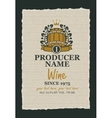 wine label with a wooden barrel vector image