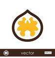 Walnut outline icon Fruit Nut vector image