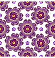 Seamless white floral pattern vector image vector image