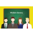 modern slavery concept with business vector image