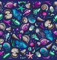 cartoon under water life seamless pattern vector image
