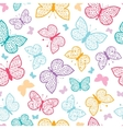 Floral butterflies seamless pattern background vector image