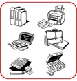 Business and office set vector image