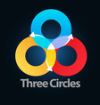 three circle vector image