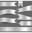 set of silver ribbons vector image