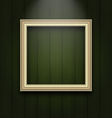 vintage picture frame on wooden wall - vector image vector image